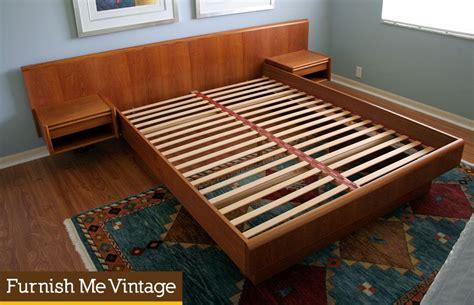 mid century king bed and exceptional modern vintage modern size teak platform bed