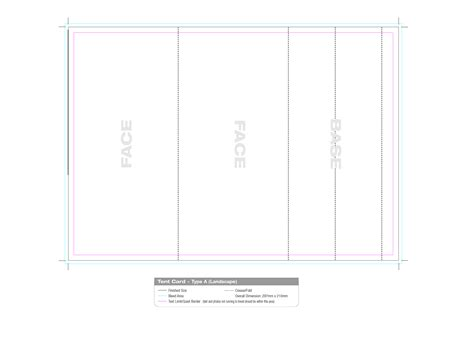 tent template table tent card template free results for table tent