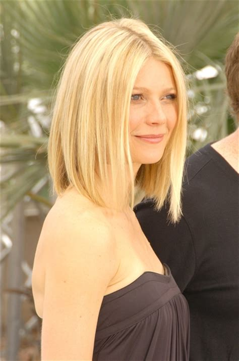 long bob hairstyles gwyneth paltrow best celebrity bob hairstyles