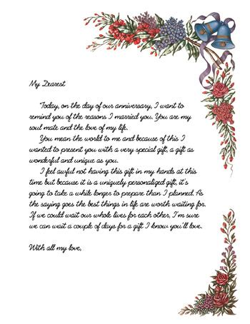 Wedding Anniversary Letter by Wedding Anniversary Letter Wedding Anniversary Letter To