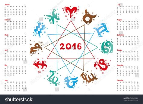 new year 2016 zodiac images 2016 new year calendar horoscope circle with zodiac sign