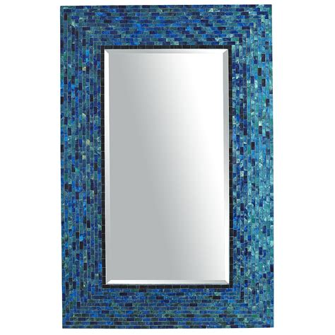 blue bathroom mirror pier 1 cerulean blue mirror what i luv pier 1