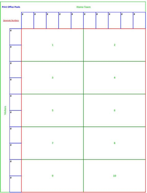 25 square football pool sheets templates pictures to pin