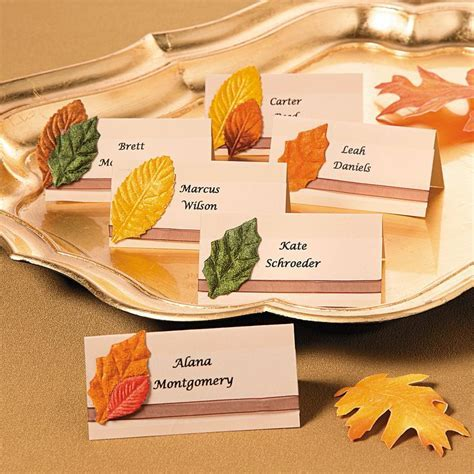 Best 25  Fall place cards ideas on Pinterest   Fall table