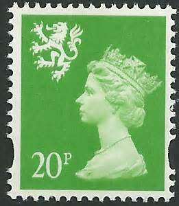 S90a s90a 20p bright green perf 14 photogravure right band