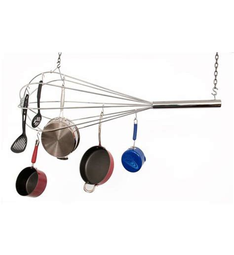 Pot Hanger Rack by Hanging Whisk Pot Rack In Hanging Pot Racks