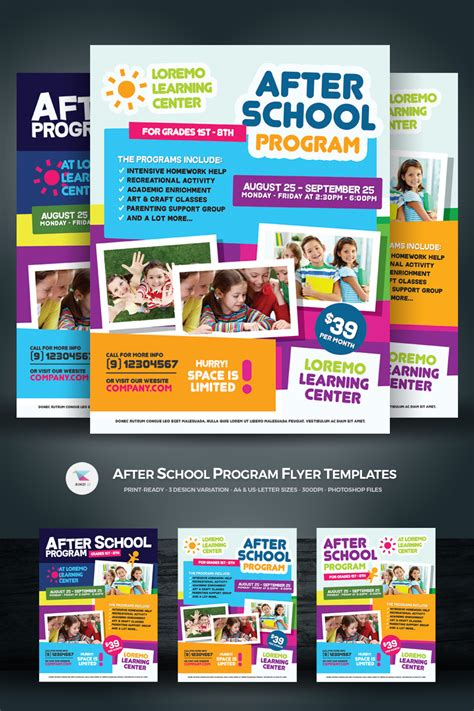 After School Program Flyer Corporate Identity Template 68488 Curriculum Flyer Template