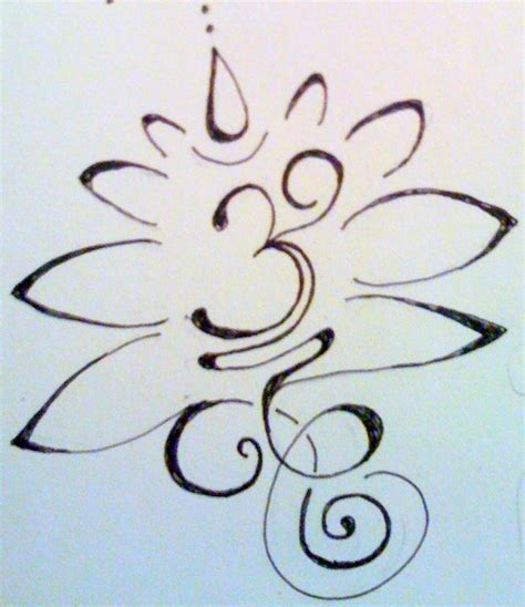 lotus flower with om tattoo designs om lotus design sketch motivation