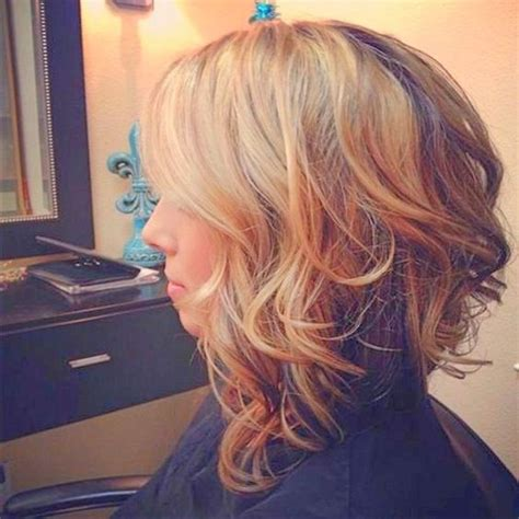 long angled curly cuts shoulder length bobs bobs and search on pinterest