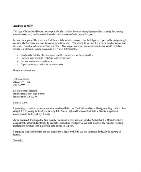 thank you letter to for employment 4 thank you letter for offer templates free