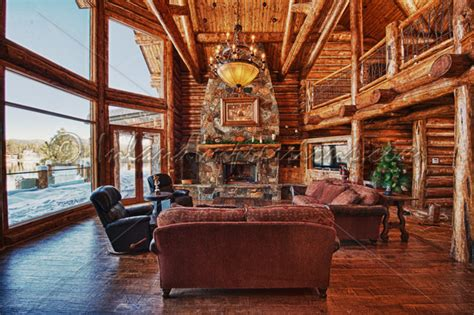 rustic log cabin interior decor forest home rustic decor