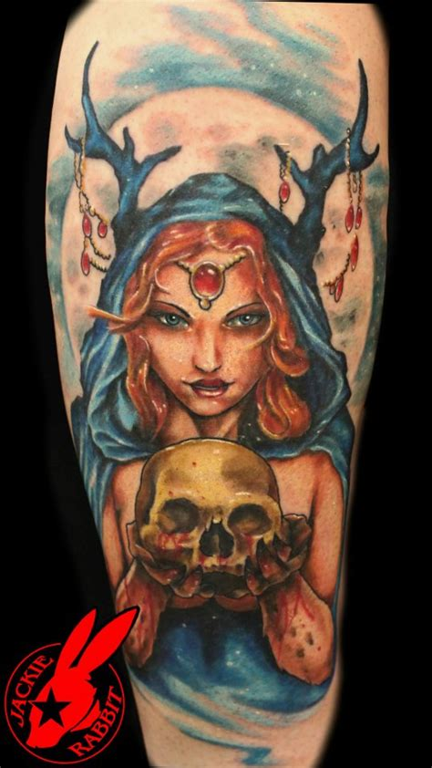 Queen Jackie Tattoo | evil fairy queen tattoo by jackie rabbit by jackierabbit12