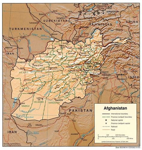 middle east map kabul nationmaster maps of afghanistan 86 in total