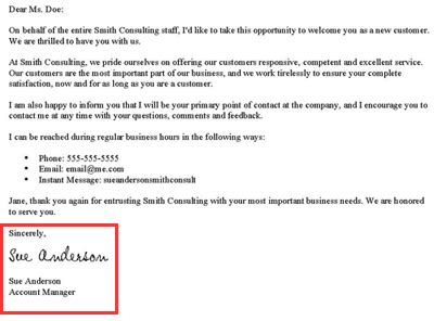 New Customer Greeting Letter How To Write A New Customer Welcome Letter