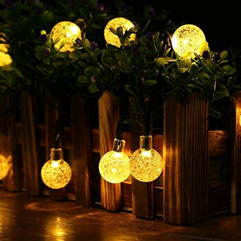 luckled globe solar christmas lights 20ft 30led fairy