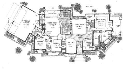 Luxury Ranch House Plans For Entertaining Salida Manor Luxury Ranch Home Plan 036d 0190 House Plans And More