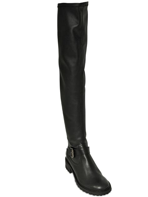 schutz the knee boots schutz 30mm calf leather the knee boots in black lyst