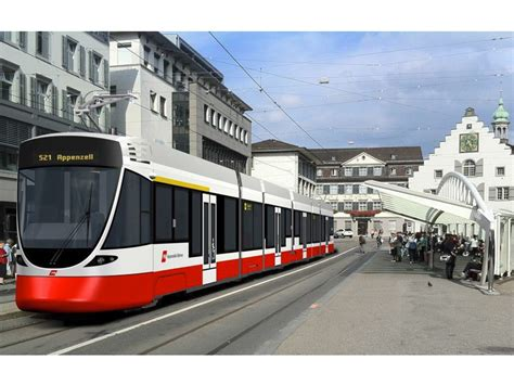 Light Rail Vehicle by Light Rail Vehicles Ordered For St Gallen Railway