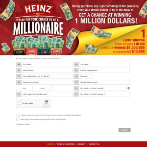 Win Money Competitions Australia - heinz competitions cash competitions australia