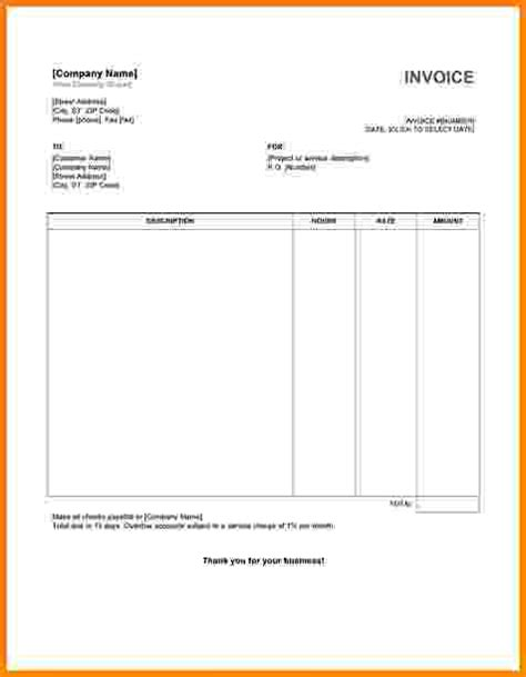 10 free printable blank invoice templates short paid
