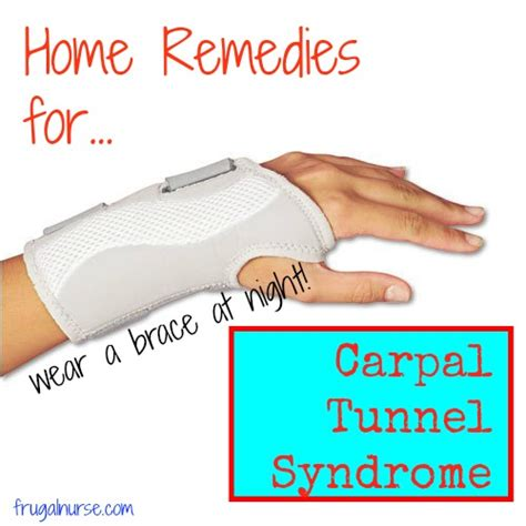 home remedies for carpal tunnel frugal