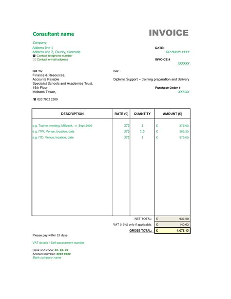 28 event management invoice sle invoice format template