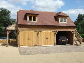 oak country buildings with big wood garage kits and