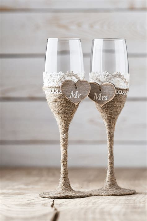Wedding Glasses by Wedding Toasting Glasses Rustic Toasting Flutes Wedding