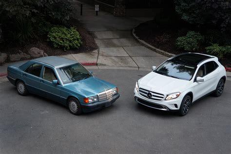 mercedes sedans mercedes compact sedans then and now