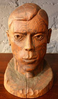 folk art carved wood heads collection decorative details wood carving art wood art wood
