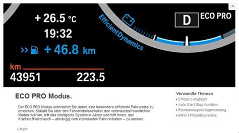 Bmw 1er F20 Eco Pro Modus by 116d Efficientdynamics Edition Weitere Infos Zum