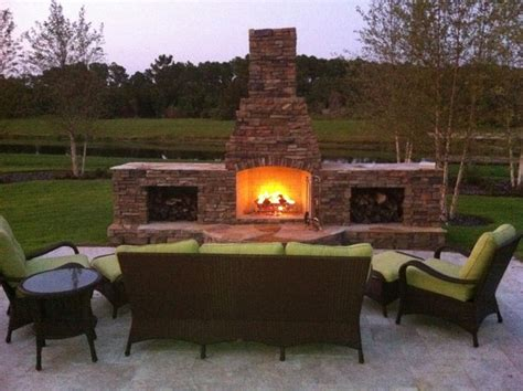 Outdoor Stacked Fireplace by Outdoor Stacked Fireplace