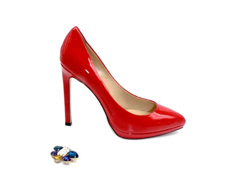 Most Comfortable Heels Glossy Red Platform High Heel Pumps