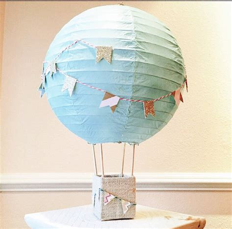 air balloon decorations centerpiece up up by