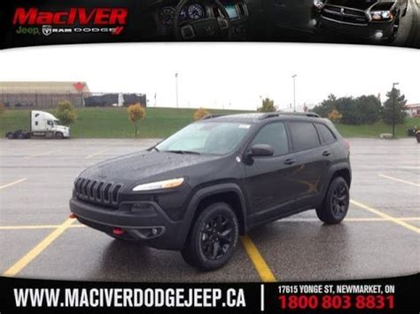 jeep trailhawk blacked out 2015 black jeep trailhawk newmarket ontario