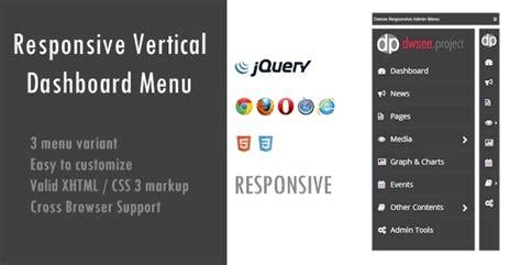 responsive design vertical menu responsive vertical dashboard menu by dwsee codecanyon