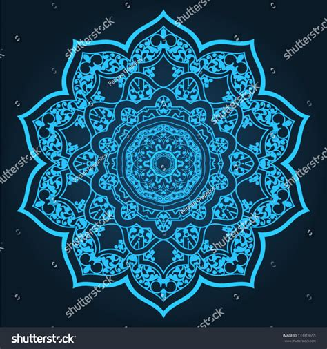 islamic pattern circle vector traditional persianislamic pattern stock vector 133913555