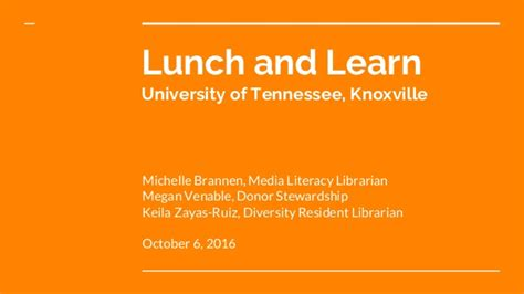 Why Doesn T Ut Knoxville An Mba Program by Lunch And Learn