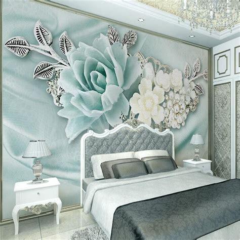 mint green schlafzimmerdekor beibehang 3d wallpaper living room bedroom mural 3d mint