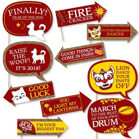 free printable chinese new year photo booth props chinese new year photo booth props 2018 year of the dog