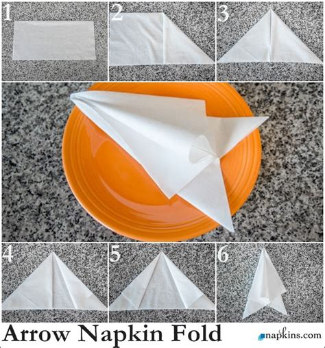 Paper Napkin Folds - 20 best images about paper napkin foldings on