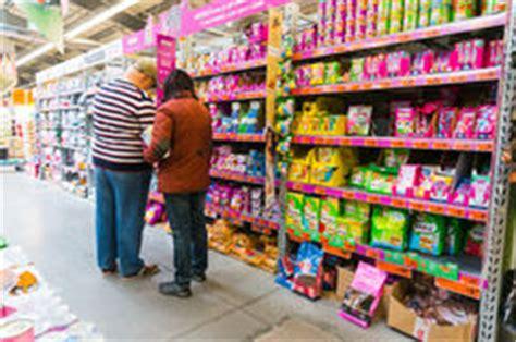 pet food store shelving shelf unit editorial photo