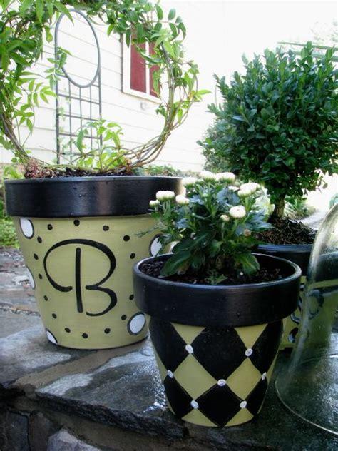 Garden Pot Painting Ideas Idea For Painting Clay Pots Gardening Planting Pinterest