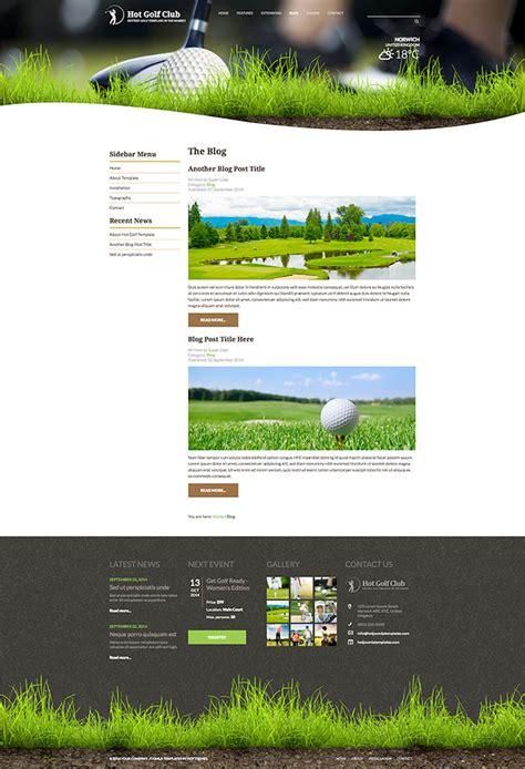 free golf website templates responsive golf template hotthemes