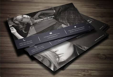 ready made business card templates free print ready photography business card template psd