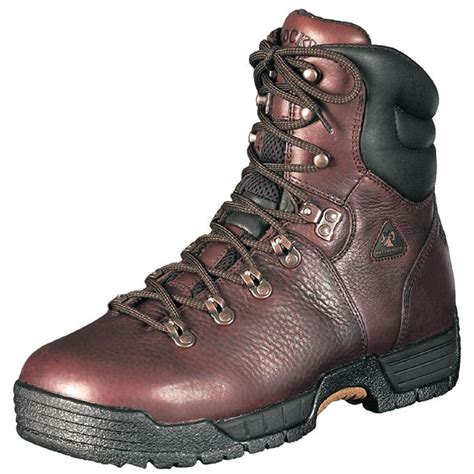 s rocky 174 mobilite 5 quot steel toe boots brown