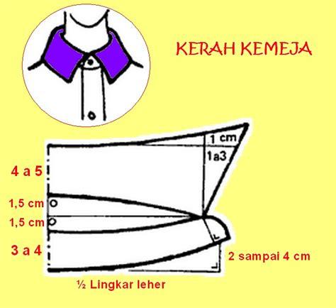 cara membuat pola baju jas pola kerah kemeja danitailor
