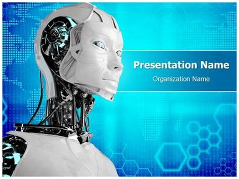 robot powerpoint template robot android powerpoint template background