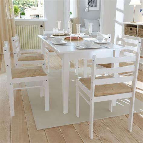 sedie bianche legno vidaxl 6x sedie da pranzo in legno quadrate bianche cucina