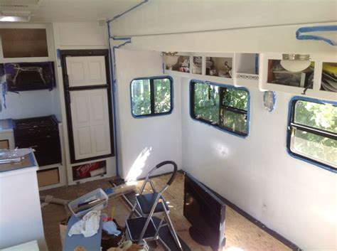 Painting 5th Wheel Trailer by Renovating Our 5th Wheel Cer A Diy Follow The High